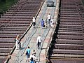 Понтонный мост через Двину. Верхнедвинск. (уже его нет). Pontoon bridge over Dvina. - panoramio.jpg