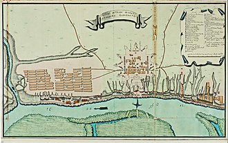 Fortress of Saint Dimitry of Rostov - Plan of Saint Dmitry of Rostov Fortress in 1768