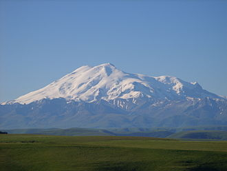 BRICS - Mount Elbrus in Caucasus, is the highest point of Russia and Europe.