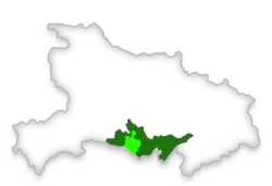 Location of the county in Jingzhou, Hubei