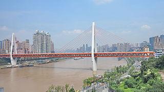 Twin River Bridges (Chongqing) bridge in Peoples Republic of China