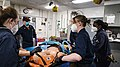 -USS Mount Whitney (LCC 20) medical evacuation drill in Gaeta, Italy, May 7, 2020- (49870680621).jpg
