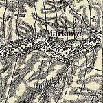 01869 Markowa am Glinik-Bach bei Gać, Franzisco-Josephinische Landesaufnahme (1869-1887).jpg