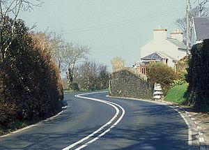 Handley's Corner, Isle of Man - Handley's Corner, on A3 Castletown to Ramsey road