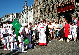 The Petit Doudou actors in the procession of the Golden Car in Mons (Belgium) 060611 Mons (20).JPG