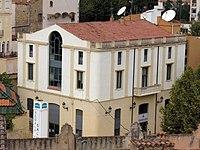 084 Ajuntament de Caldes d'Estrac, des del parc de Can Muntanyà.JPG