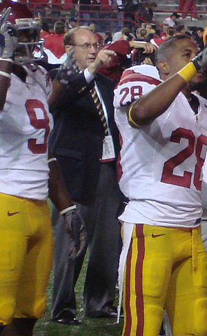 Steven Sample - Sample with the 2007 USC Trojans football team, celebrating a victory
