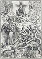 11. Albrecht Dürer, Apokalypsa, IX. Apokalyptická žena, Národní galerie v Praze.jpg