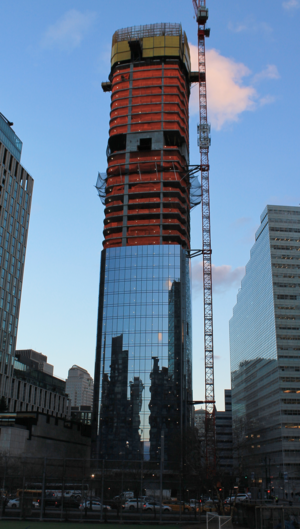 111 Murray Street - Under construction, January 2017.