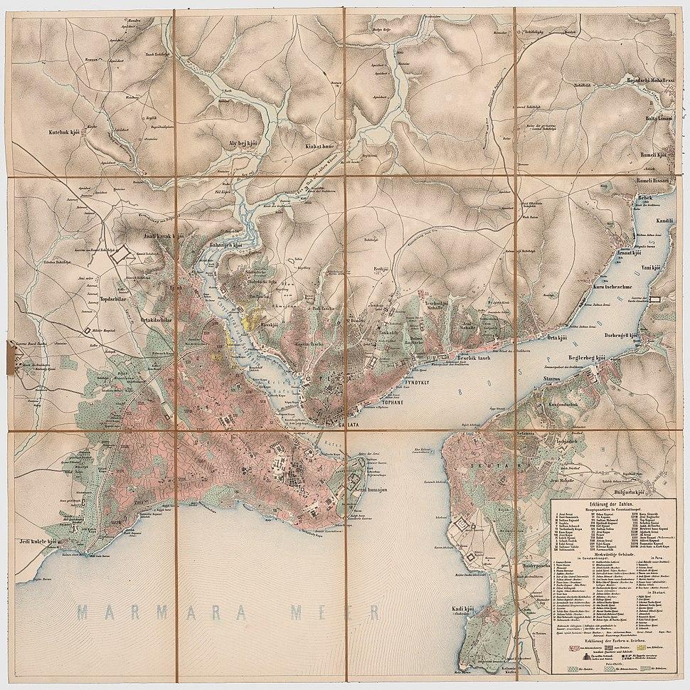 12 - Konstantinopel; Scheda-Karte europ Türkei