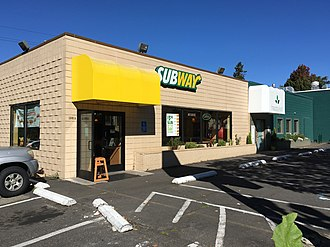 Subway (restaurant) - Subway restaurant in Portland, Oregon