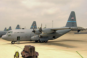 142d Airlift Squadron C-130s New Castle ANG Base Delaware