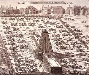 1586 Rome obelisk erection.jpg