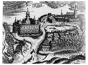Neman, Russia - Ragnit Castle and settlement, 1684