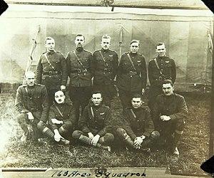 168th Aero Squadron - Pilots of the 168th Aero Squadron, Croix de Metz Aerodrome (Toul), France, November 1918