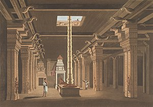 Choultry - Image: 1798 aquatint painting of Tirumala Nayak Choultry, Meenakshi Hindu temple, Madurai Tamil Nadu