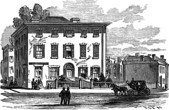 Boston Dispensary - Boston Medical Dispensary, corner Ash Street and Bennett Street, South End, Boston, 1859