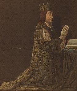 1881, Indumentaria española documentos para su estudio, desde la época visigoda hasta nuestros dias, D. Juan II, siglo XV, Francisco Aznar (cropped).jpg
