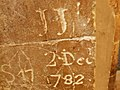 18th Century graffiti, Rochester Cathedral - geograph.org.uk - 1171529.jpg