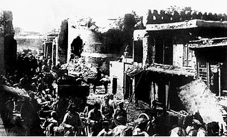 History of Bukhara - Red Army troops entering old Bukhara after besieging the city.