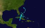 1927 Atlantika tropika ŝtormo 7 track.png