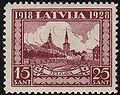 19281118 15sant Latvia Postage Stamp.jpg