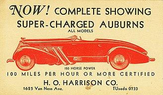 Auburn Automobile - 1935 Auburn Speedster ad