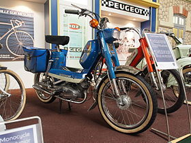 original poster peugeot cyclo 104 103 102 bb bima moped blue ebay. Black Bedroom Furniture Sets. Home Design Ideas