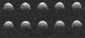 1999 RQ36 radar sequence by Goldstone DSN (PIA15776).png