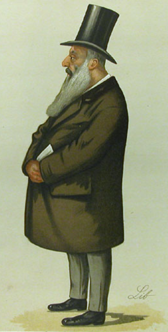 Samuel Montagu, 1st Baron Swaythling - Samuel Montagu, by Liborio Prosperi, 1886.