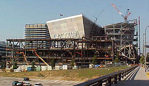 Walt Disney Concert Hall - Disney Hall midway through construction, July 14, 2001.