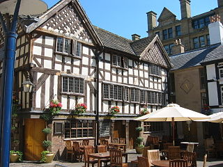 The Old Wellington Inn grade II listed pub in Manchester, United kingdom