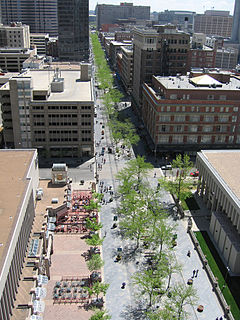 16th Street Mall pedestrian and transit mall in Denver, Colorado, United States