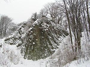 Katzbach Mountains - Małe Organy Myśliborskie lava formation in Kaczawskie Mountains