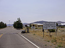2008-07-12 Winnemucca Airport entrance sign at the end of Nevada State Route 796.jpg