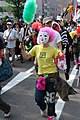 2008 G8 Summit Antiglobalist Demonstration March a clown.jpg