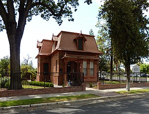 Porterville, California - The NRHP listed Zalud House is a former private home, now a museum.