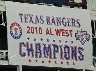 2010 Texas Rangers season - Image: 2010 Texas Rangers division banner