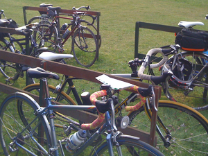 Randonneuring - Typical bicycles at a randonneuring event in the United Kingdom.