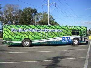 Gainesville Regional Transit System - 2011 Gillig with Gator scale wrap