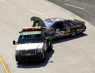 Martin Truex Jr. - 2011 Sprint Cup car following an accident at Martinsville