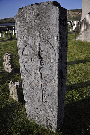 Farr, Sutherland - The Farr Stone at the graveyard of the Farr Parish Church, now the Strathnaver Museum