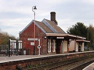 Crediton railway station Railway station in Devon, England
