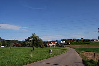 Wileroltigen - Fields and houses in Wileroltigen