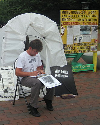 White House Peace Vigil - The vigil in July 2012