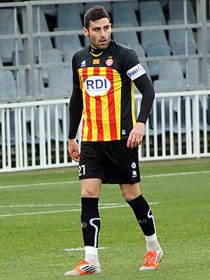 Benjamín Martínez - Benja in action for Girona in 2012