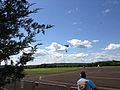 2014-08-24 15 05 43 Skydivers parachuting to the ground at Pennridge Airport in East Rockhill Township, Pennsylvania.JPG