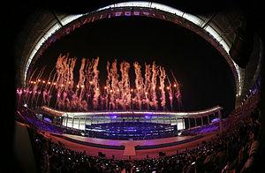 Incheon Asiad Main Stadium - Stadium during 2014 Asian Games opening ceremony