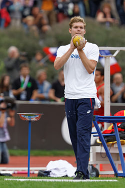 2014 DécaNation - Shot put 07.jpg