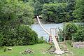2014 Droga w kierunku jeziora Rica, Most wiszący na rzece Bzyp (02).jpg